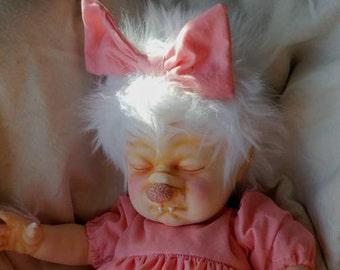 Baby Werewolf Pup OOAK Art Doll