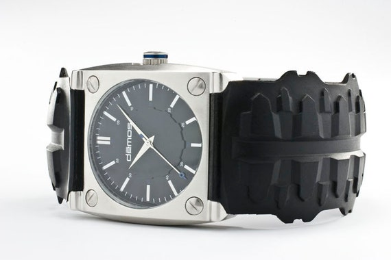 Motocross - Motorcycle TREAD wristwatch - Tread w/ Brushed Stainless Steel case