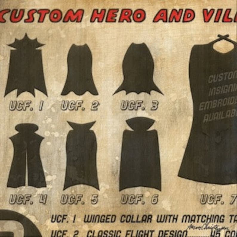 Superhero Wall Art - Hero Custom Capes Wall Art by Aaron Christensen-  Inspiration for your super one to pick the perfect cape