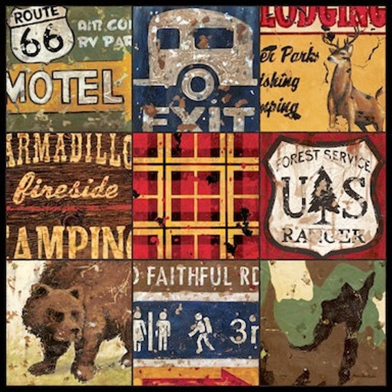 American Adventure Camping Wanderlust Lodge Wall Art Canvas   Etsy