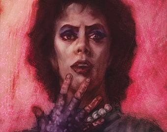 Rocky Horror Picture Show Dr. Frank-N-Furter Pink and Purple Luster Fine Art Prints