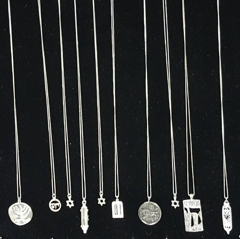 Men/'s Necklace Women/'s Necklace Unique Gifts for Dad Old Coin Necklace Israel Shekel With Chalice Antique Israeli Coin Pendant Necklace