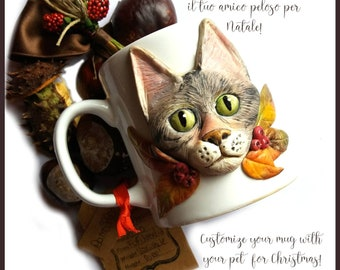 On request personalized pet cup fimo the herbal tea mug idea christmas customizable decoration gift parrot cat dog