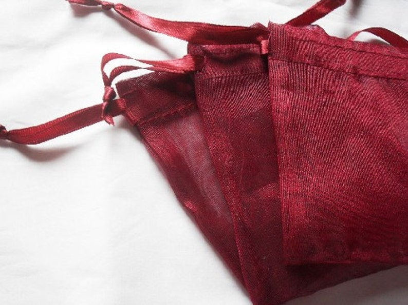 10 10x12 Wine Red Organza bags 10x12 inch