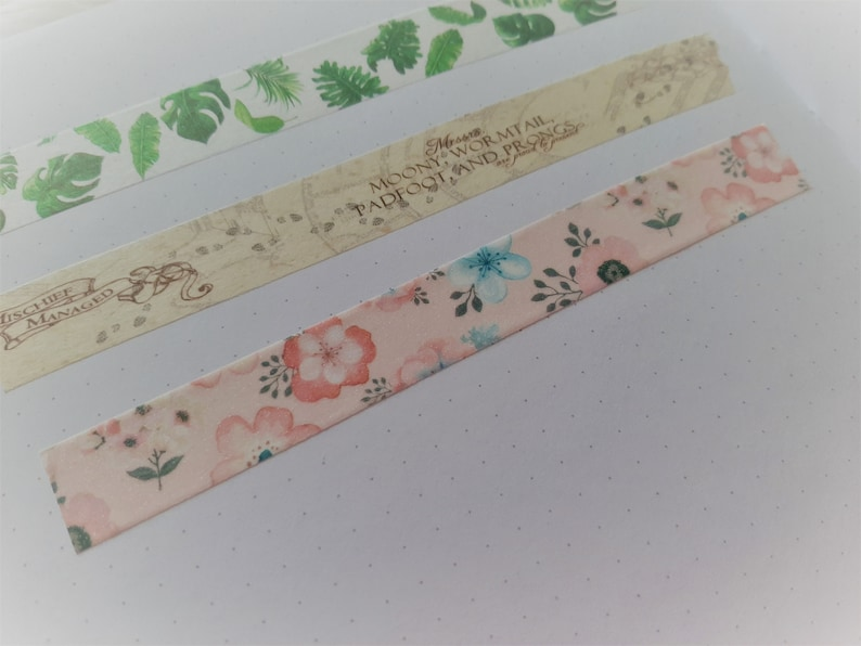 Pink Floral Micro Glitter Washi Tape 15mm for Planner Decoration