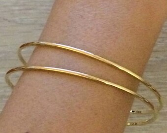cb4d57a9834 Gold Bangles, Thin Bangles, Gold Bracelets, Gold Bangles, Bridesmaid Gift, Thin  Gold Bracelet