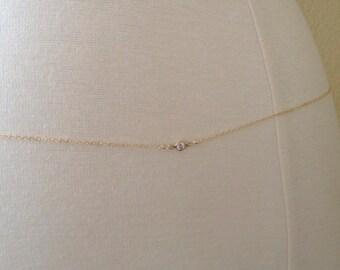0f49856de30 14k Gold Filled CZ Belly Chain