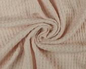 Blush B Waffle Rayon Spandex Open Knit Fabric by the Yard - 1 Yard Style 659