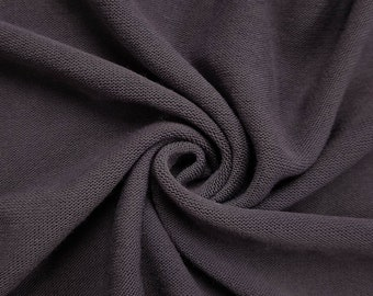 d0bf47ad8f1 Lilac Dusty Stretch Jersey with Merino-like Wool Brush fabric by the Yard -  Style 495