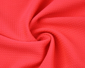 91d08c1315c Coral Neon Bullet Poly Spandex Jersey Knit Fabric by the Yard - 1 Yard  Style 508