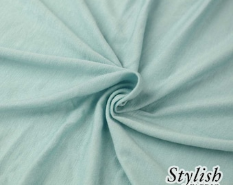 de1bf39f748 Blue Spa Light-weight 160 GSM Rayon Spandex Jersey Knit Fabric by the Yard  - 1 Yard Style 13390
