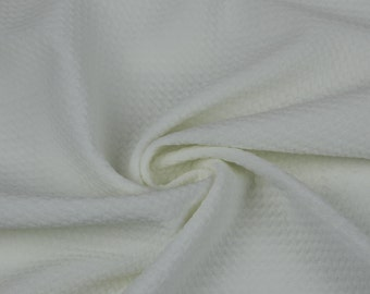 494d8a7b372 Off White Bullet Poly Spandex Jersey Knit Fabric by the Yard - 1 Yard Style  508