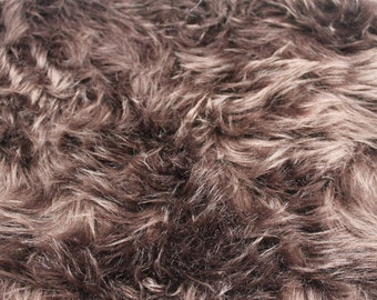 Newborn multi-color faux fur vest RTS