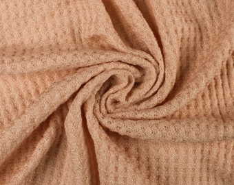 4f68db7c62beec Blush Waffle Rayon Spandex Open Knit Fabric by the Yard - 1 Yard Style 659