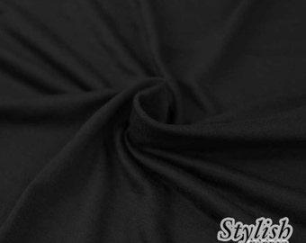 23f15e2c86b Black Light-weight 160 GSM Rayon Spandex Jersey Knit Fabric by the Yard - 1  Yard Style 13390