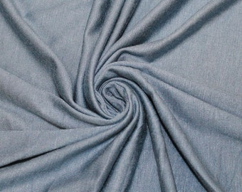 cc8953e2cf9 Blue Steel 160 GSM Rayon Spandex Jersey Knit Fabric by the Yard - 1 Yard  Style 13390