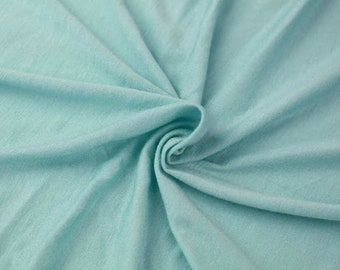 d997f1e0723 Aqua Light-weight 160 GSM Rayon Spandex Jersey Knit Fabric by the Yard - 1  Yard Style 13390