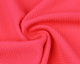79072ba91d6 Hot Pink Neon Bullet Poly Spandex Jersey Knit Fabric by the Yard - 1 Yard  Style 508