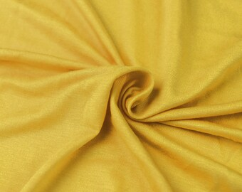 1713f61579c Bright Yellow D Light-weight Rayon Spandex Jersey Knit Fabric - 160 GSM by  the Yard - Style 13390