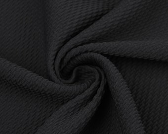e74a53bbbc4 Black Bullet Poly Spandex Jersey Knit Fabric by the Yard - 1 Yard Style 508