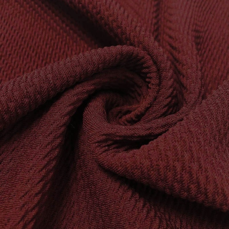 aab6dc7e629 Burgundy Bullet Poly Spandex Jersey Knit Fabric by the Yard | Etsy