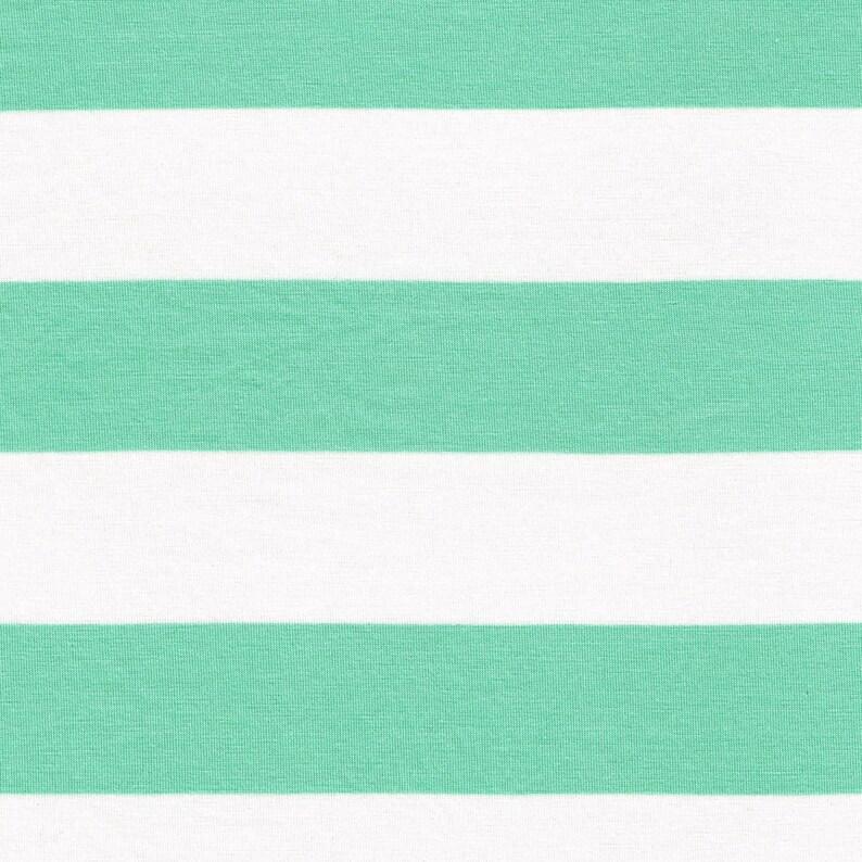 bb66b572f7a 2 Seafoam/Off White Stripes Rayon Jersey Stretch Knit | Etsy