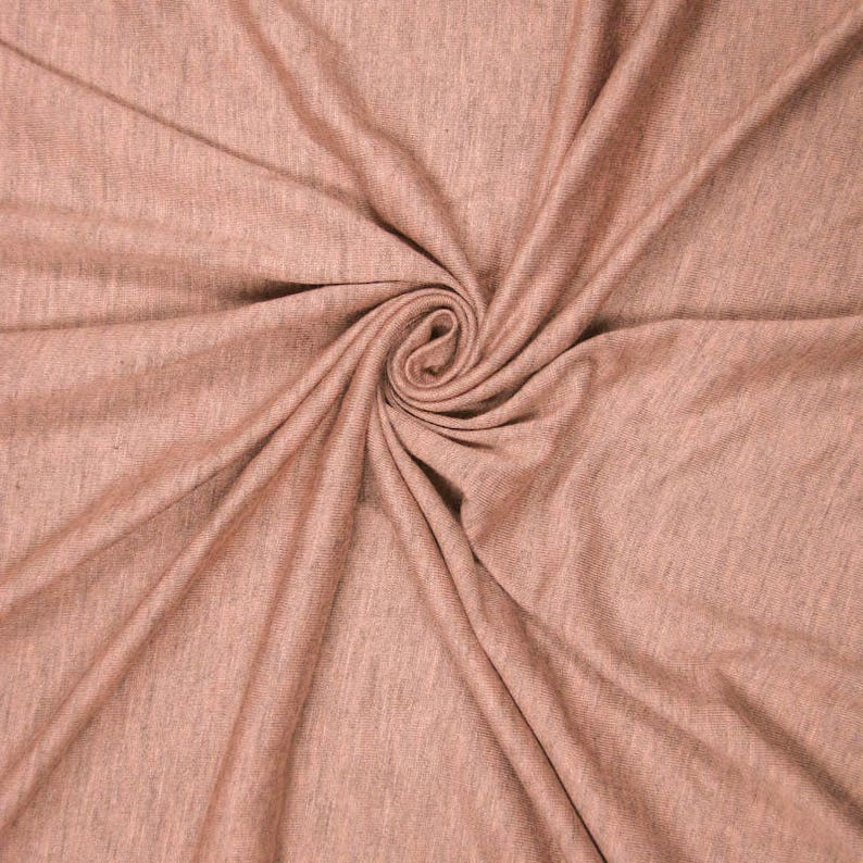 a5053e33c2a Peach Chambray Light-weight 160 GSM Rayon Spandex Jersey Knit   Etsy