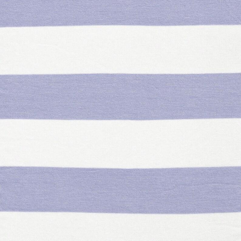 1d36b2a7f73 2 Lilac Pale/Off White Stripes Rayon Jersey Stretch Knit | Etsy