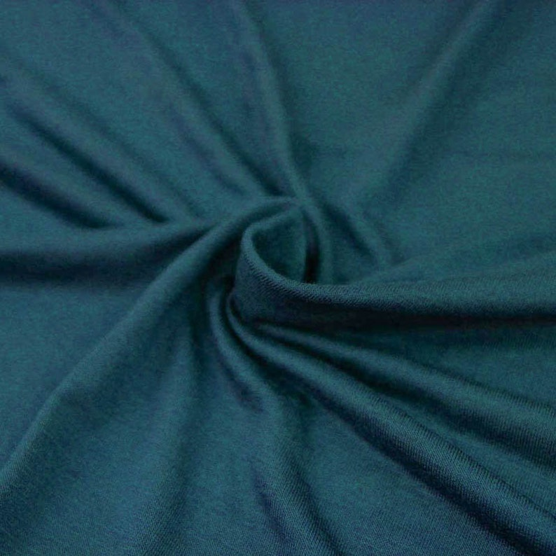 e88038f55d3 Teal Light-weight 160 GSM Rayon Spandex Jersey Knit Fabric by   Etsy