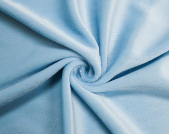 "Baby Blue 60"" Steam Medium-Weight Velour Fabric by the Yard - Style 3092"