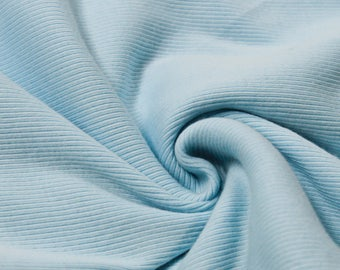 """Blue Spa 2x1 Rib Knit 60"""" Heavy-Weight Cotton Fabric by the Yard - Style 3068"""