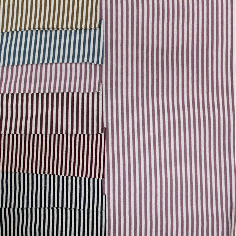 9024731395 Micro Stripe Jersey di Viscosa Stretch tessuto filato tinto colore singolo  tessuto Swatch campione - viscosa Stripe Spandex Jersey Knit - stile 588