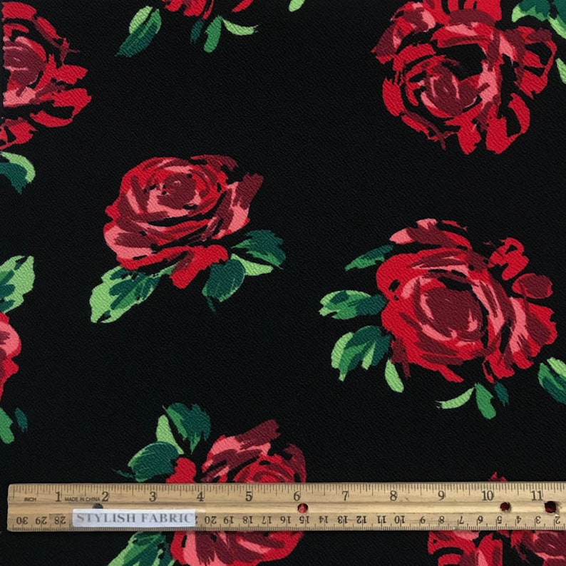 Floral Liverpool Scuba Print #69 Double Tricot Poly Lycra Spandex BTY