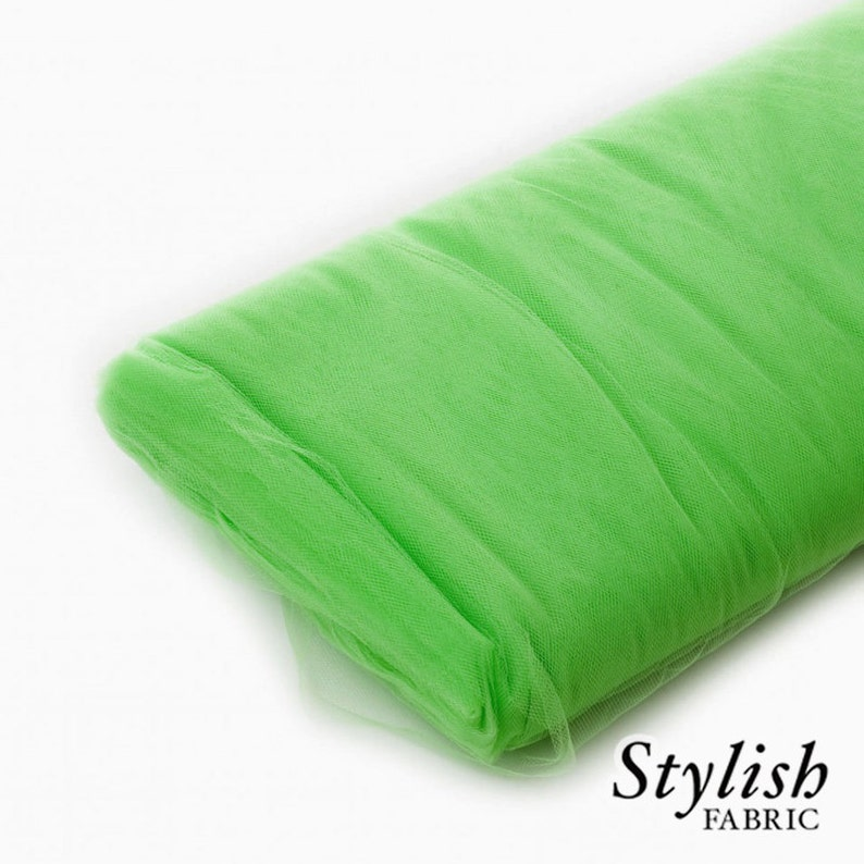 Wholesale Tulle Tulle Net Fabric -40 Yard Bolt- Style 2601 Light Green Tulle Fabric Wedding Tulle Fabric Tulle Party Decoration Fabric
