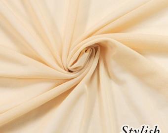 Nude Nylon Power Mesh Fabric by the Yard, Soft Sheer Drape Mesh Fabric, Stretch Mesh Fabric, Performance Mesh Fabric  Style 454