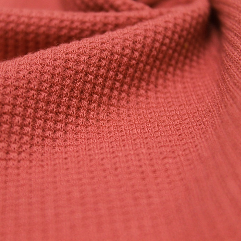 Coral Solid Thermal Knit Fabric Clothing's  DIY Projects image 1
