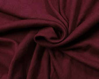 """Ruby Special 60"""" Rib Knit Heavy-Weight Cotton Fabric by the Yard - Style 3077"""