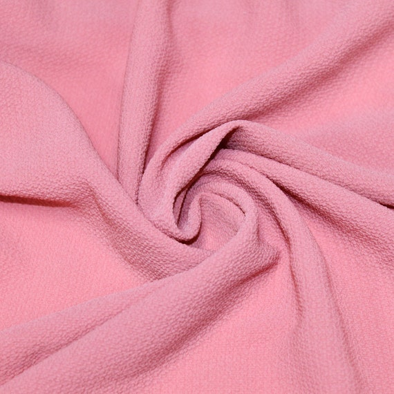 Coral Sum Bubble Crepe Chiffon Fabric Textured Chiffon for Dresses, Tops, and DIY Projects Fabric by the Yard Style 586