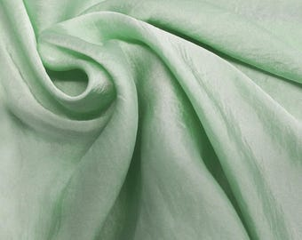 Mint Silky Satin Chiffon Fabric by the Yard - Style 455