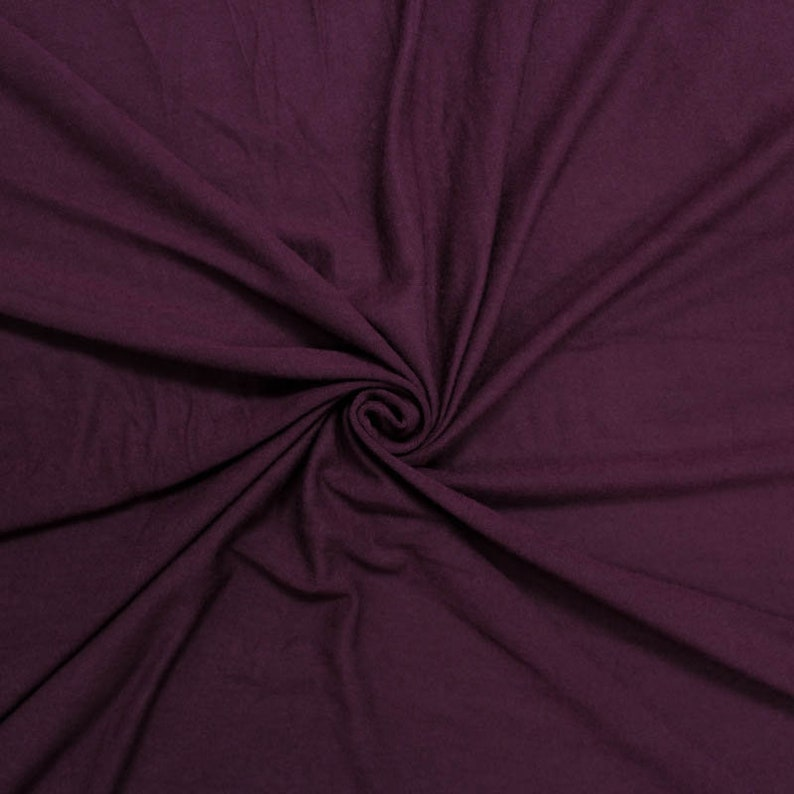 6161f4a5dfc Burgundy Dk Light-weight 160 GSM Rayon Spandex Jersey Knit Fabric by the  Yard - 1 Yard Style 13390