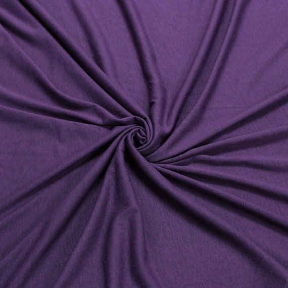 46aca884cf6 Eggplant Light Solid Poly Rayon Spandex 160 GSM Light-Weight   Etsy