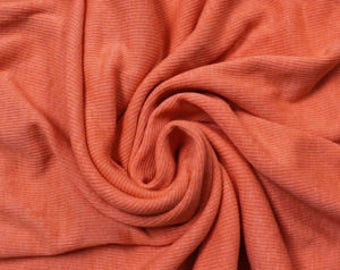 """Orange 60"""" Rib Knit Heavy-Weight Cotton Fabric by the Yard - Style 3080"""