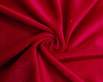 "Red 60"" Steam Medium-Weight Velour Fabric by the Yard - Style 3092"