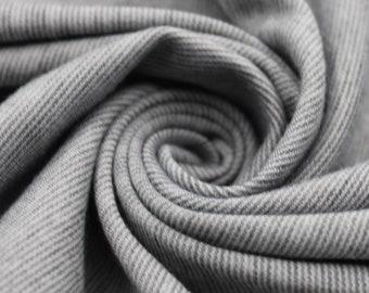 Denim Chambray Ponte Roma Fabric  knit fabric  Ponte di Roma Fabric by the yard - 1 Yard Style 410