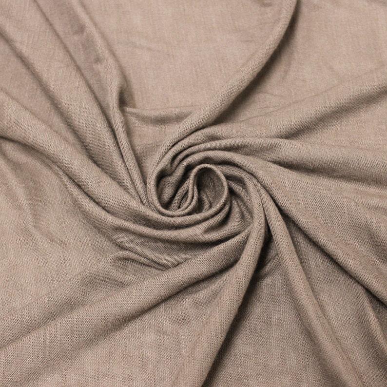 57480bc2156 Mocha Slub Rayon Jersey Knit Fabric Mocha Modal Knit Fabric, Apparel Dress  Shirt Arts and Crafts Fabric - 1 Yard Style 13412