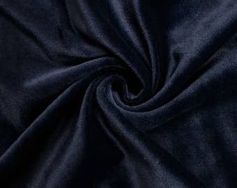 "Navy 60"" Steam Medium-Weight Velour Fabric by the Yard - Style 3092"