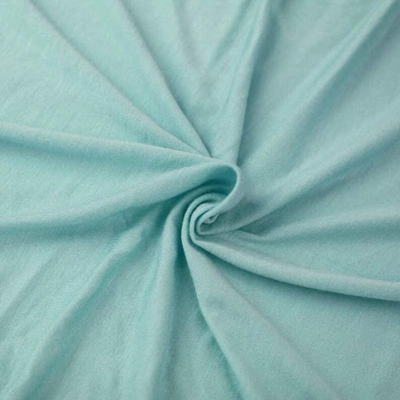 220fbd14f10 Aqua Light-weight 160 GSM Rayon Spandex Jersey Knit Fabric by   Etsy
