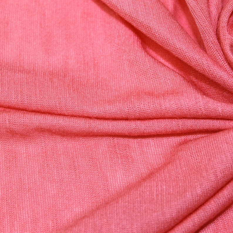 06c799366600b3 Light Coral Slub Rayon Jersey Knit Fabric Light Coral Modal