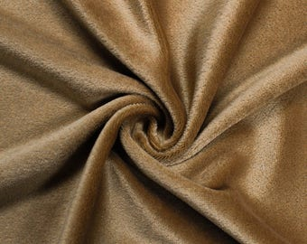 "Khaki 60"" Steam Medium-Weight Velour Fabric - Style 3092"