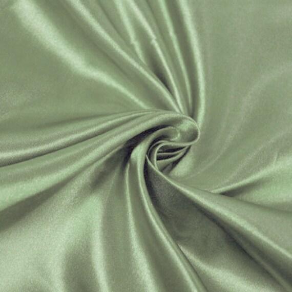 """Dark Sage 25 Yards Shiny Bridal Satin Fabric 60/"""""""